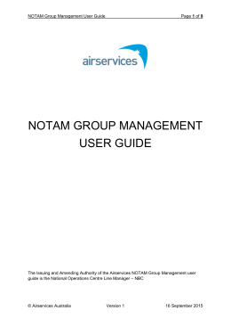 notam group management user guide