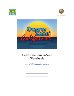 California CareerZone Workbook