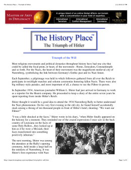 The History Place - Triumph of Hitler