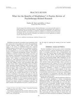 What Are the Benefits of Mindfulness? A Practice Review
