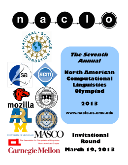 The Seventh Annual - naclo - Carnegie Mellon University