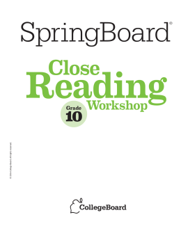 Close Reading Workshops - Hinds County School District