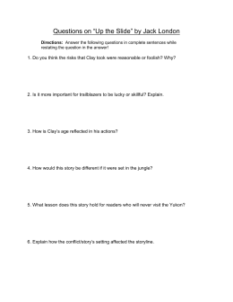 "Questions on ""Up the Slide"" by Jack London - Reeths"