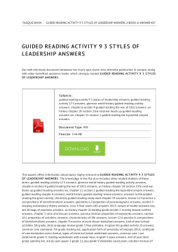 Guided Reading Activity 9 3 Styles Of Leadership Answers