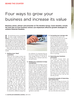 Four ways to grow your business and increase its value