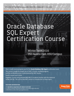 Oracle Database SQL Expert Certification Course