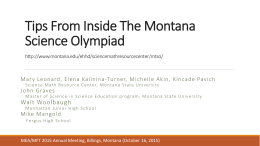 Tips inside the Science Olympiad