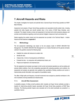 7. Aircraft Hazards and Risks