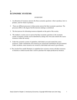 Chapter 3 Economic Systems