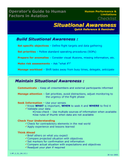 Situational Awareness - Aerocats Business Aviation