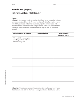 Literary Analysis SkillBuilder