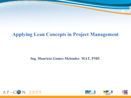 Applying Lean Concepts in Project Management