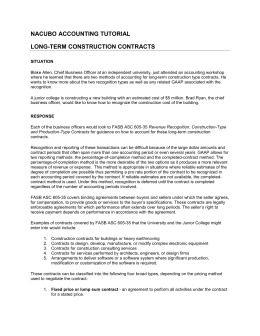 Long Term Construction Contracts
