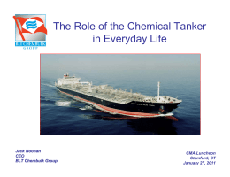 The Role of the Chemical Tanker in Everyday Life