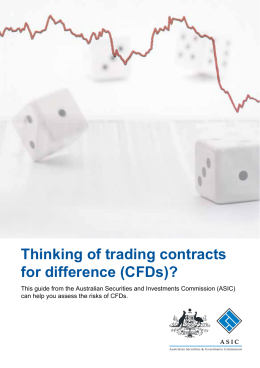 Thinking of trading contracts for difference (CFDs)?