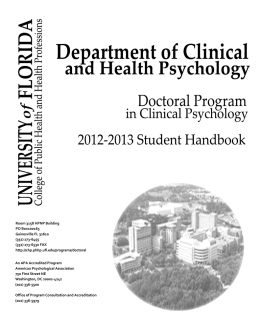2012-2013 - Department of Clinical and Health Psychology