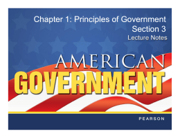 Principles of Government Section 3