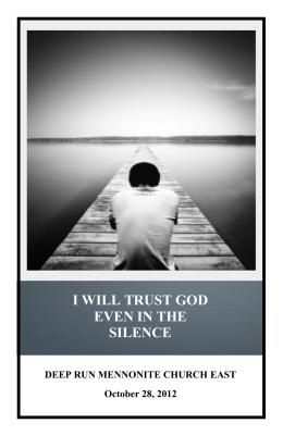 i will trust god even in the silence