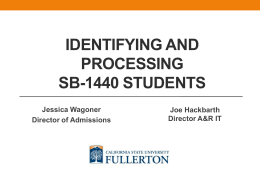 Processing Students with Associate Degrees for Transfer