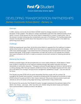 developing transportation partnerships