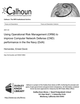 Using Operational Risk Management (ORM) to Improve Computer