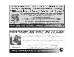 NTUA may have a College Scholarship for You!