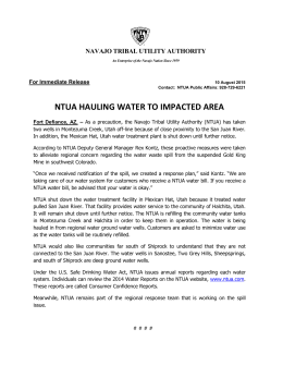 ntua hauling water to impacted area