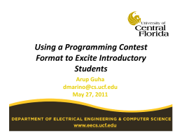 Using a Programming Contest Format to Excite Introductory Students