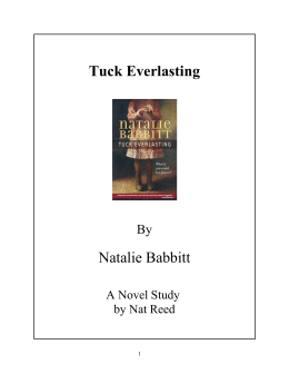 Tuck Everlasting - Reed Novel Studies