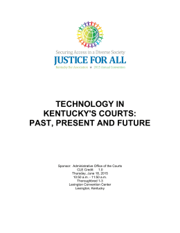 technology in kentucky`s courts