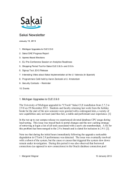 Newsletter 10 January 2013 (Sakai)