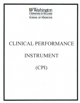 Clinical Performance Instrument (CPI)