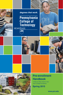 Spring 2015 Booklet - Pennsylvania College of Technology