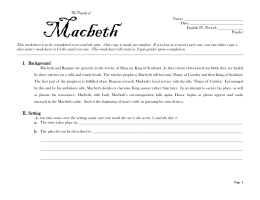 examine the part played by banquo in the play and comment on his character essay Prodded by his ambitious wife, lady macbeth, he murders king duncan, becomes king, and sends mercenaries to kill banquo and his sons his attempts to defy the prophesy fail, however: macduff kills macbeth, and duncan's son malcolm becomes king.