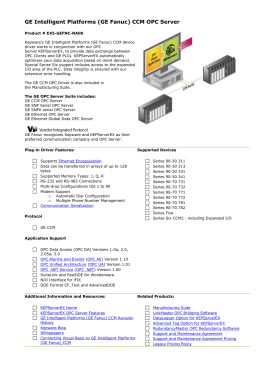 GE Intelligent Platforms (GE Fanuc) CCM OPC Server