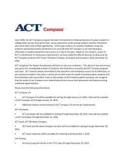 Since 1983, the ACT Compass program has been instrumental in