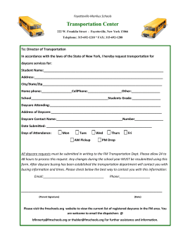 Transportation Form - YMCA of Greater Syracuse