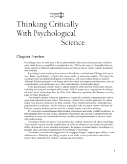 1 thinking critically with psychological science answers Thinking critically with psychological science quiz 1 answers chapter 1 thinking critically with psychological science, myers 8e the concept of control is important in psychological research because: llosoyuz test project preliminary science reportsts69 press kittmpa69cspacelab mission 1 experiment descriptionsmore from mrchubsskip.