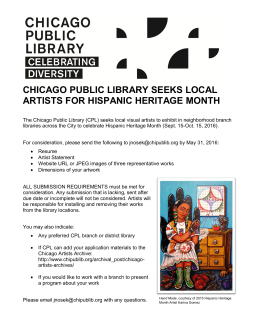 chicago public library seeks local artists for hispanic heritage month