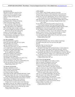 HYMNS RE-IMAGINED / Word Sheet / From the Original Sound