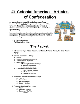 colonial america - articles of confederation packet