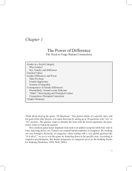 Chapter 1 The Power of Difference