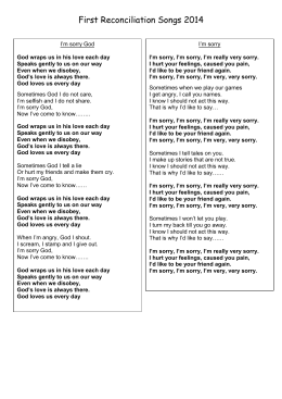 First Reconciliation Songs 2014