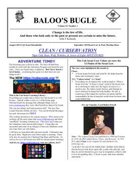 baloo`s bugle - US Scouting Service Project