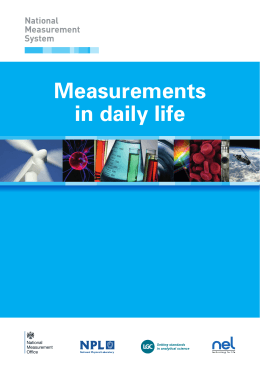 Measurements in daily life - National Physical Laboratory