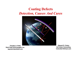 Coating Defects Detection, Causes And Cures