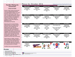 Menus for October 2016 - Onslow County Schools