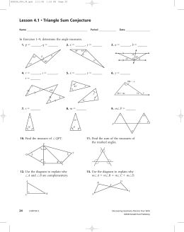 Lesson 4.1 • Triangle Sum Conjecture