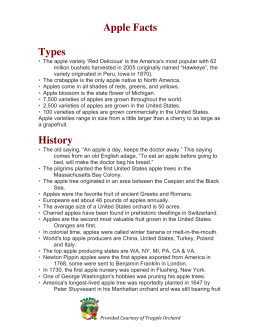 Apple Facts Types History