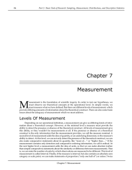 Chapter 7 Measurement